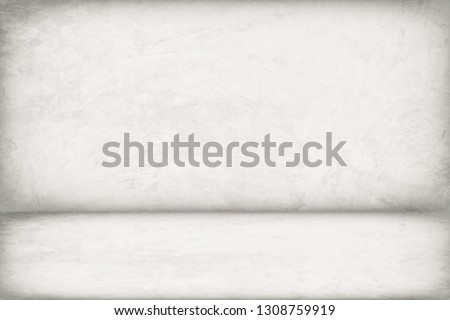 Abstract Concrete Room Background Using for Product Presentation Backdrop. #1308759919