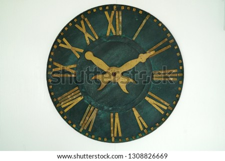 Traditional Roman Clock style   isolated white background     #1308826669