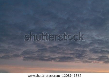 cirrus clouds at sunset #1308941362