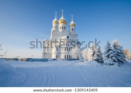 Cathedral of the Archangel Michael in Arkhangelsk. Russia, Arkhangelsk #1309143409