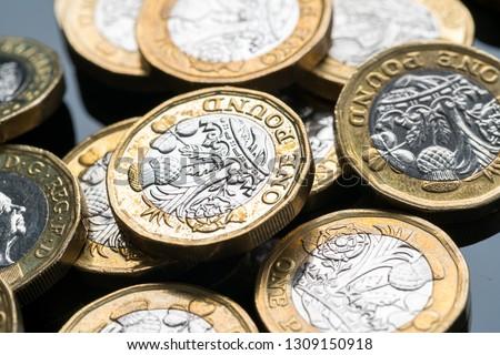 New British one pound coin in studio #1309150918