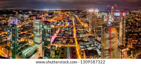 an overview about the banking district of Frankfurt am Main Germany #1309587322