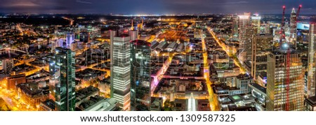 an overview about the banking district of Frankfurt am Main Germany #1309587325