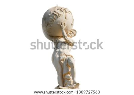 Atlas God Statue Royalty-Free Stock Photo #1309727563