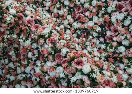 a lot of pink rose background #1309760719