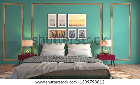 Bedroom interior. 3d illustration #1309793812
