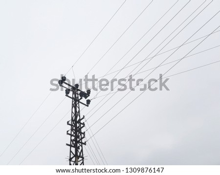 Energy ( Electricity ) Transmission Tower and Transmission Line #1309876147
