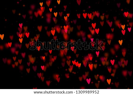 Bokeh hearts overlay, hearts overlay, photo overlay, blurred hearts background, Valentine's Day background, love photo overlay, hearts bokeh #1309989952