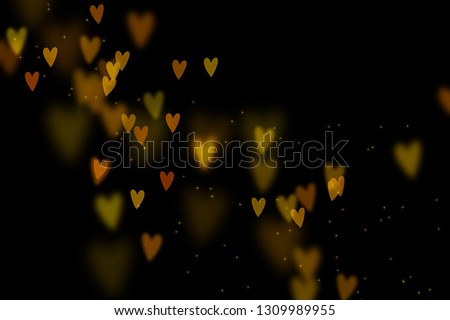 Bokeh hearts overlay, hearts overlay, photo overlay, blurred hearts background, Valentine's Day background, love photo overlay, hearts bokeh #1309989955