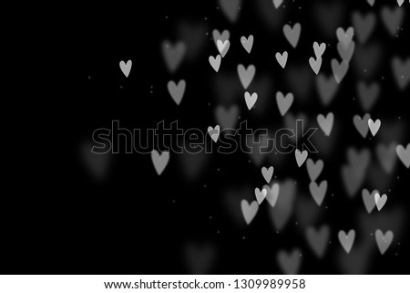 Bokeh hearts overlay, hearts overlay, photo overlay, blurred hearts background, Valentine's Day background, love photo overlay, hearts bokeh #1309989958
