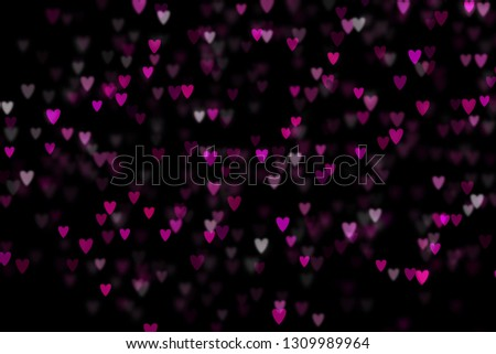 Bokeh hearts overlay, hearts overlay, photo overlay, blurred hearts background, Valentine's Day background, love photo overlay, hearts bokeh #1309989964