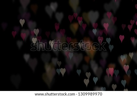 Bokeh hearts overlay, hearts overlay, photo overlay, blurred hearts background, Valentine's Day background, love photo overlay, hearts bokeh #1309989970