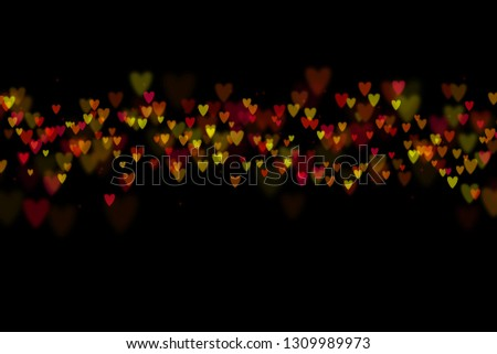 Bokeh hearts overlay, hearts overlay, photo overlay, blurred hearts background, Valentine's Day background, love photo overlay, hearts bokeh #1309989973