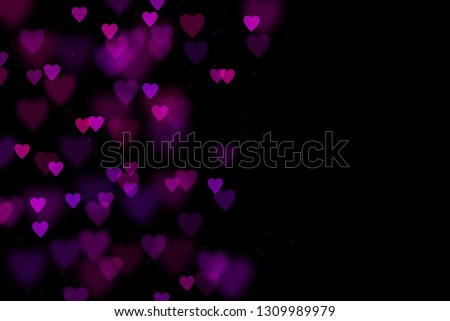 Bokeh hearts overlay, hearts overlay, photo overlay, blurred hearts background, Valentine's Day background, love photo overlay, hearts bokeh #1309989979
