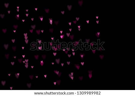 Bokeh hearts overlay, hearts overlay, photo overlay, blurred hearts background, Valentine's Day background, love photo overlay, hearts bokeh #1309989982