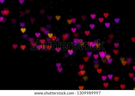 Bokeh hearts overlay, hearts overlay, photo overlay, blurred hearts background, Valentine's Day background, love photo overlay, hearts bokeh #1309989997