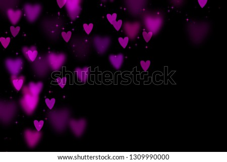 Bokeh hearts overlay, hearts overlay, photo overlay, blurred hearts background, Valentine's Day background, love photo overlay, hearts bokeh #1309990000