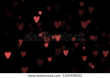 Bokeh hearts overlay, hearts overlay, photo overlay, blurred hearts background, Valentine's Day background, love photo overlay, hearts bokeh #1309990033