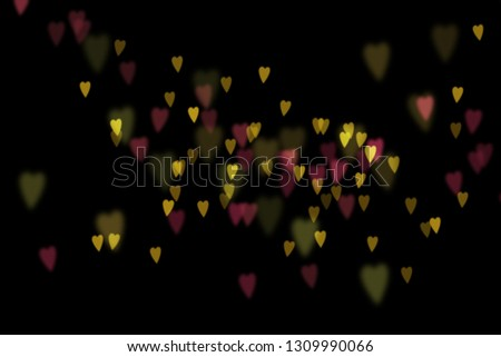 Bokeh hearts overlay, hearts overlay, photo overlay, blurred hearts background, Valentine's Day background, love photo overlay, hearts bokeh #1309990066
