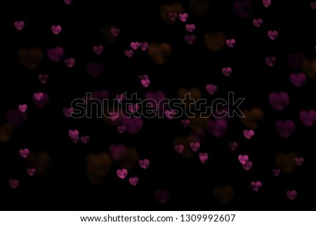 Bokeh hearts overlay, hearts overlay, photo overlay, blurred hearts background, Valentine's Day background, love photo overlay, hearts bokeh #1309992607