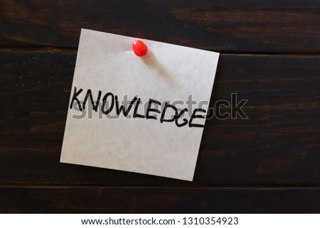 Knowledge word on the sticker #1310354923