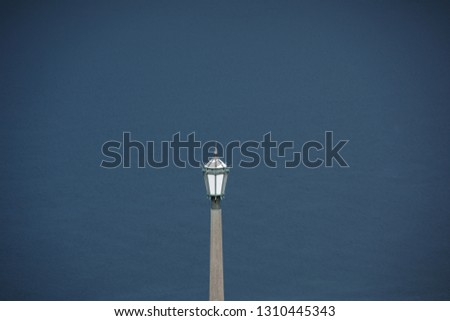 Single Lamp Solid Background #1310445343