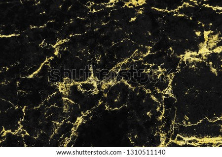 Black and gold marble texture design for cover book or brochure, poster, wallpaper background or realistic business and design artwork. #1310511140
