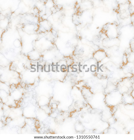 White marble texture with golden glitter details. Illustration for invitation, print, interior design template.  #1310550761