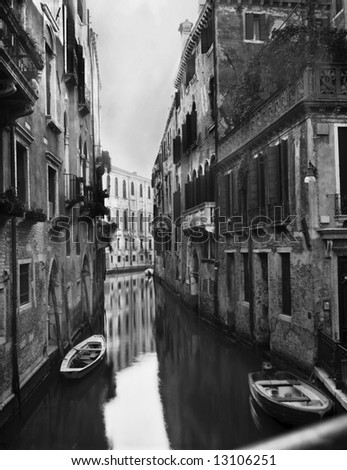 This is a stock photograph of a canal in Venice.