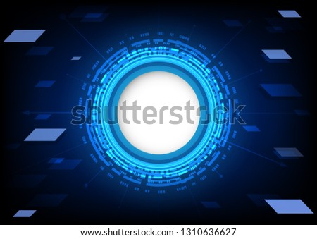 Abstract technology background. digital technology concept. vector illustration. #1310636627