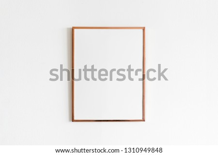 Wooden frame, blank thin frame with empty space