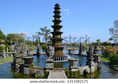 fountain in a buddhist temple #1311082175