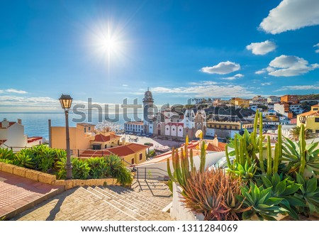 Landscape with Candelaria town on Tenerife, Canary Islands, Spain #1311284069