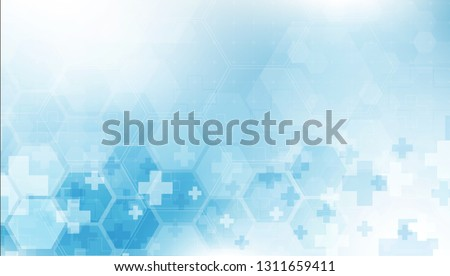 health care and science icon pattern medical innovation concept background vector design. Royalty-Free Stock Photo #1311659411