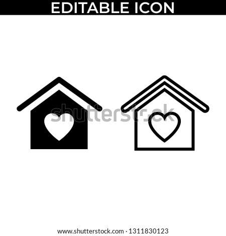 Simple Set of Valentine Love Day Vector Line and Fill Icons #1311830123