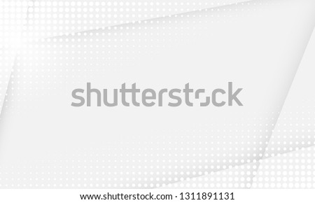 White abstract background. Vector gray white halftone dot pattern background #1311891131