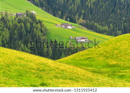 The beautiful mountains of the Dolomites #1311925412