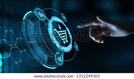 Add To Cart Internet Web Store Buy Online E-Commerce concept. Royalty-Free Stock Photo #1312249301