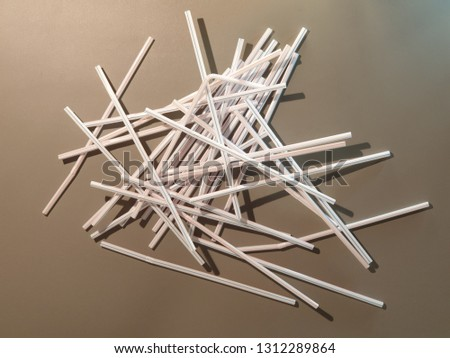 Straws for drinks. Straws for drinks close-up. #1312289864