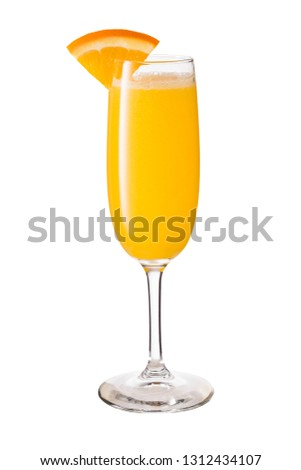 Vodka Orange Juice Mimosa Cocktail on White with a Clipping Path #1312434107