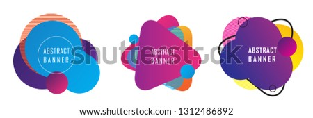 abstract geometric shape banner, abstract modern graphic element #1312486892