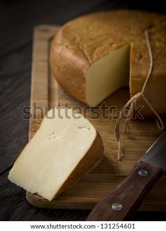 Smoked sulguni - typical Georgian cheese. #131254601