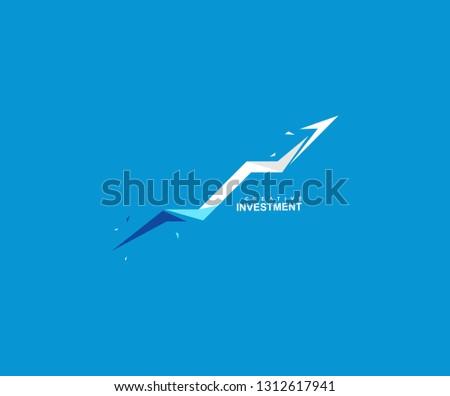 Creative abstract growth arrow finance logo #1312617941