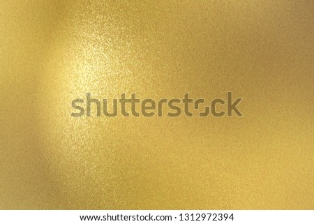 Abstract background, rough gold wall wave texture #1312972394