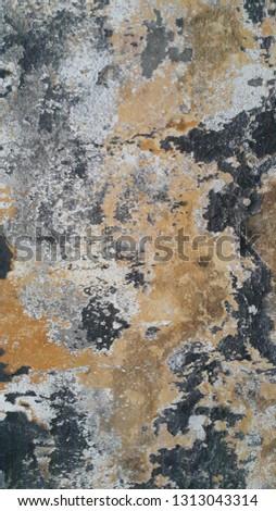 Painted Peeling Cracked Wall #1313043314
