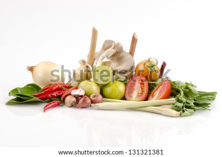 ingredient of thai spicy soup #131321381