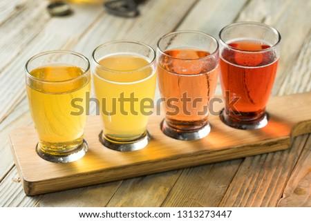 Refreshing Hard Cider Flight of Beers to Drink #1313273447