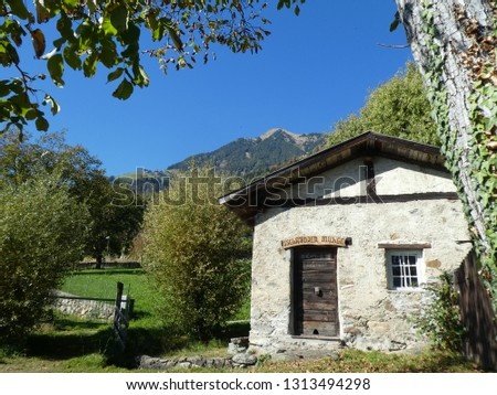 Old mill in a idyllic landscape, South Tyrol, Italy #1313494298