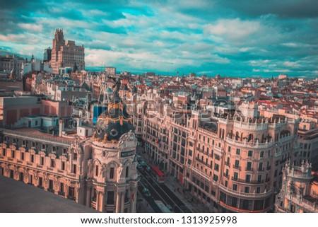 a bird's-eye view of Madrid  #1313925998