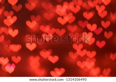 Red hearts bokeh background #1314106490